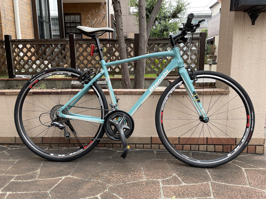 Bianchi ROMA3 + WH-R501-CL (ハブ軸135mm化)
