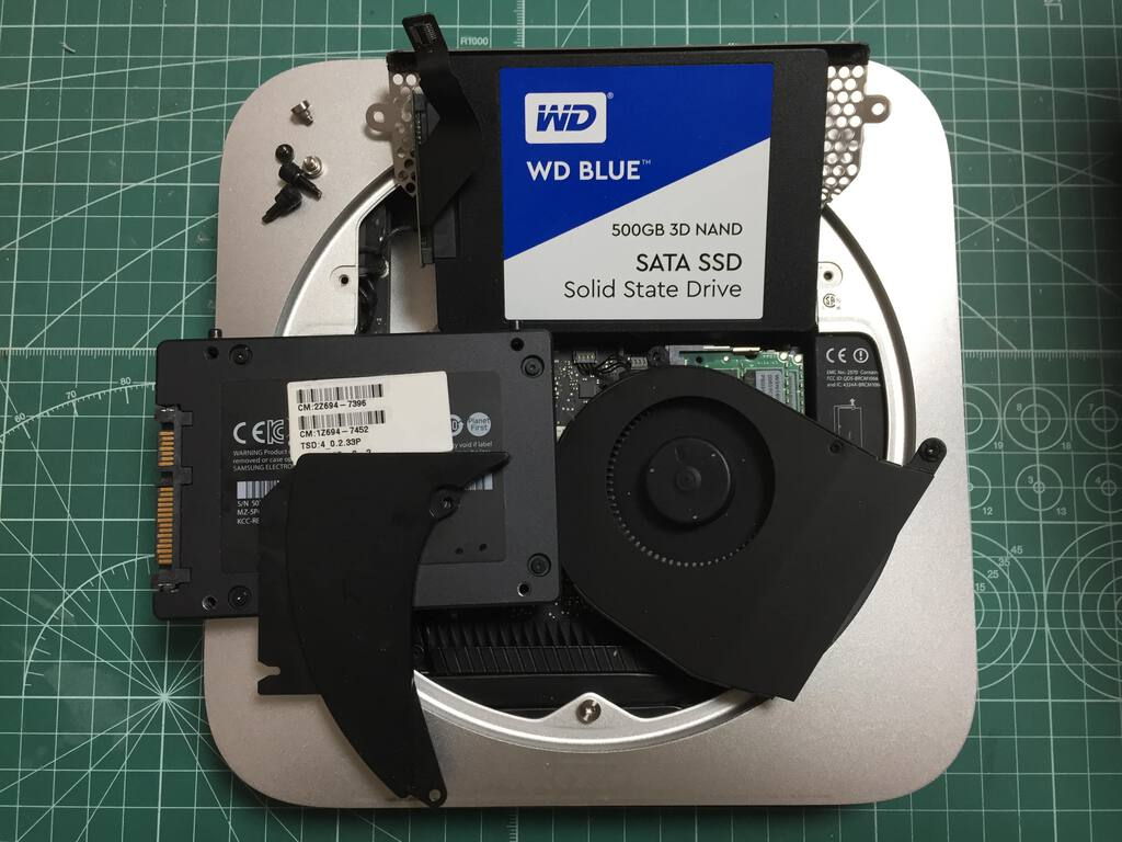 Upgrading Mac Mini (Late 2012) Hard Disk Drive to 512GB SSD